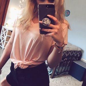 Pink tie shirt